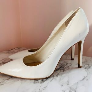 White Vince Camuto Pointed Pumps